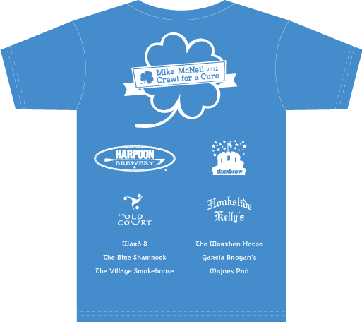 2012 MMO Pub Crawl T-Shirt Back