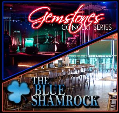 Blue Shamrock & Gemstones Logo